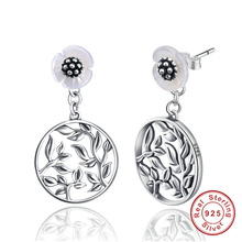 925 Sterling Silver Can be split Wearing Style Earrings Bud Flower Long designs new Drop Earrings