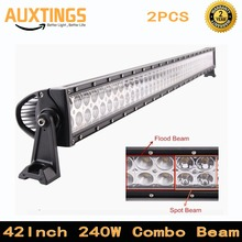4x4 combo beam 24000lms 42 inch 240w car driving lights wiring kit 12v offroad led work light bar for SUV Tractor Truck Boat(China)