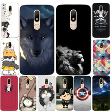 "For Motorola Moto M XT1662 Case Cover Soft TPU Silicon Cover Cat Dog Animal Cartoon painted Phone Capa For Moto M XT1663 5.5""(China)"