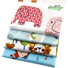 50*145cm  cartoon animal patchwork printed  cotton fabric for Tissue Kids Bedding home textile for Sewing Tilda Doll,c1985