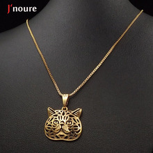 2016 new fashion Exotic Shorthair cat  gold pendant and necklace for pet lovers dog animal charm power necklace A169G