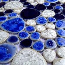Free Style 3D Pebble Blau Weiß Glasierte Keramik Wandfliese Für Schwimmbad  Badezimmer Dusche Boden Porcelian