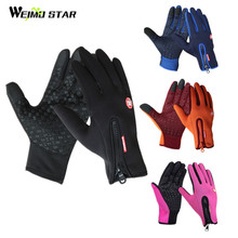 Weimostar Windproof Cycling Gloves Full Finger Touch Screen mtb Bicycle Bike Gloves Winter Motorcycle Gloves guantes ciclismo