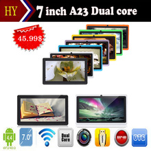 DHL free shipping 5pcs/lot Q88 allwinner A23 Quadl Core 1.5GHz Android 4.4512MB 4GB Dual camera 2800mah Tablet pc 9 Colors(China)