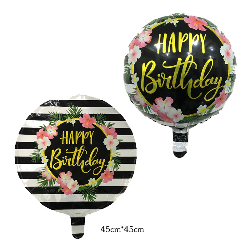 "Flowers Happy Birthday 18/"" FoilHelium Balloon"