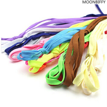 2017 HOT SALE 1Pair Shoelace Athletic Sport Sneakers Flat Shoelaces Bootlaces Shoe laces Strings For Multi Color(China)