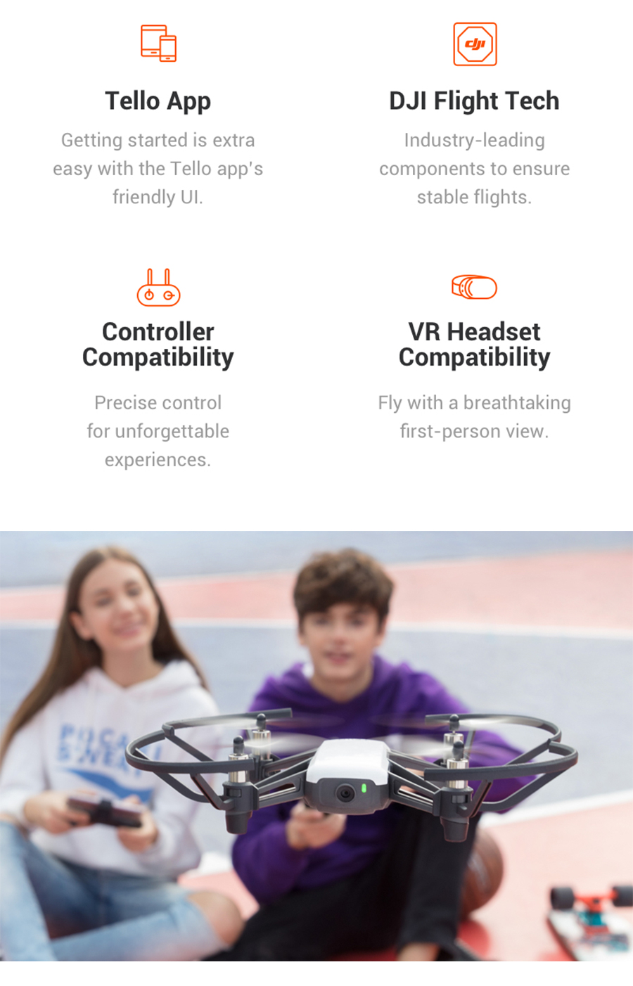 In Stock! DJI Tello Mini Drone 720P HD Transmission Camera APP Remote Control Folding Toy FPV RC Quadcopter Drones with EZ Shots1_02