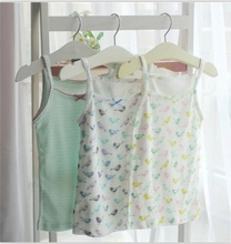 Germany Brand Topolino 2pcs/lot Summer 100% organic cotton soft baby girl sleeveless tees children clothing girls tank camisoles(China)