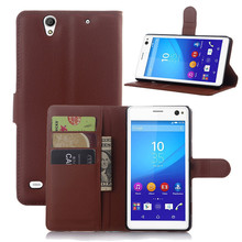 "Buy Cover Sony Xperia C4 5.5""Phone Cases Fundas Magnetic PU Flip Leather Case Covers Bag Card Holder Coque Xperia C 4 for $3.43 in AliExpress store"