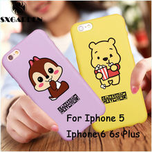 For iPhone 5 5s SE 6 Classical Cartoon Figure Cartoons Doraemon Network Sponger StarDuck Donald winnie the Donald Duck - 040098