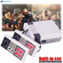 EastVita Retro TV Handheld Game Console Video Game Console mini Games Player Built-in 600 Games PAL&NTSC Dual Gamepad r33(China)