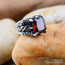 Black silver jewelry wholesale 925 Sterling Silver Jewelry Vintage Silver Black Onyx Ring 030727w Long Zhua