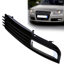 New Car Front Fog Light Lamp Bumper Grille Grills Cover Right Side Lower Grilles 1 Pcs Black Parts For Audi A8 D3 2007-2010(China)