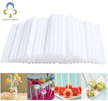 50pcs/lot Lollipop lolly sugar-loaf cake pop plastic stick 50pcs a set 7cm length high quality FDA certification(China)