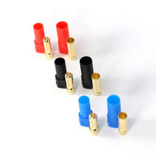 3 Pair/Lot Amass XT150 6mm High Current Banana Head With Jacket Three Color Blue Red Black Banana Head Female Male Plugs