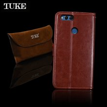 TUKE For Huawei Honor 7X Case Cover Luxury Leather Silicone Flip Case For Huawei Honor 7 X Android Mobile Phone Cover Case Funda(China)