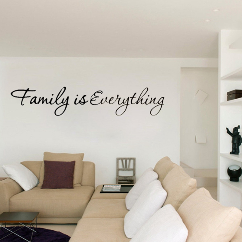 New Arrival DIY Family Is Everything Removable Art Vinyl Quote Wall Sticker  Mural Home Kids Living Room Bedroom Decor Part 59