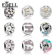 EDELL New Genuine 925 Sterling Silver Modern trend Charms Bead Fit Original Bracele Making DIY bangle Pearl necklace Commonly
