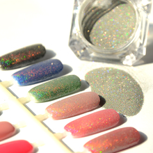 BORN PRETTY 1.5g/Box Holographic Laser Powder Nail Glitter Rainbow Manicure Chrome Pigments Holographic Glitter