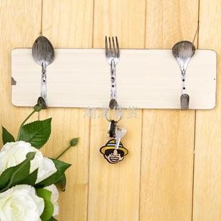 Special wooden castle wind restoring ancient ways antique spoon fork creative hook coat hook wall decoration<br><br>Aliexpress