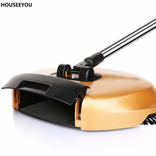 New Lazy Magic Broom Sweeping Robot Vacuum Cleaner Without Electricity Household Hand Push Broom Dustpan and Trash Bin 3 In 1(China)