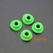 4Pcs GREEN Silicone Tyre Valve Cap Seal Gasket Washer For Kawasaki Suzuki BMW Motorcycle Motocross FREE SHIPPING