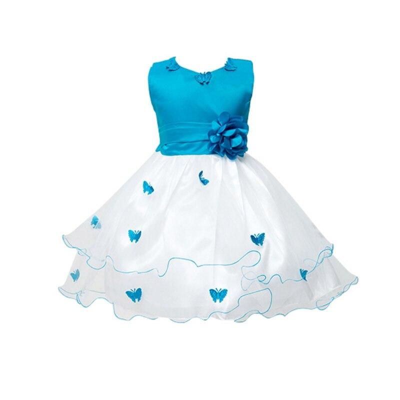 Kids Girl Summer Dress Butterfly Mesh Waist Flower Applique Rolloff Tulle Princess Dress Party Birthday Back Bowknot Dress<br><br>Aliexpress