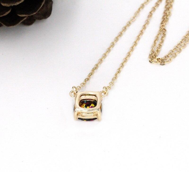 2016-new-personality-14-glitter-colors-choker-square-dot-necklace-small-cute-shinny-color-pendant-necklace (1)