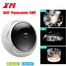 5MP 360 Degree Panoramic Fish Eye IP Camera Multi-purpose Wifi Night Veresion kamera APP Remote Control Wireless P2P IP Web XM(China)