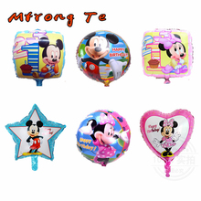 10pcs Minnie Mickey balloon pink Blue globos Helium Foil Balloon Children Classic Toys birthday cartoon mickey minnie balloons