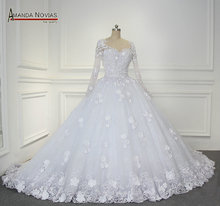 New Style New Bandage Crystal Lace Luxury Wedding Dress Bridal Dress gown vestido de noiva