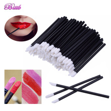 Bittb 100pc Disposable Makeup Lip Brush Lipstick Gloss Brushes Set Eyeliner Eye Shadow Applicator Makeup Tools Beauty Essentials(China)