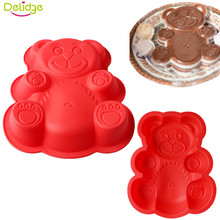 Delidge  1 pc  Bear Shape Cake Mold Silicone Large Size 3D Cartoon Bear Chocolate Baking Mold  Bakeware Maker Mold Tray