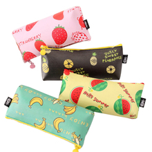 Buy 1PC Fruit Pattern Pencil Bag Students Fresh Waterproof PU Leather Pencil Cases Stationery Material Escolar Office Supplies for $1.29 in AliExpress store