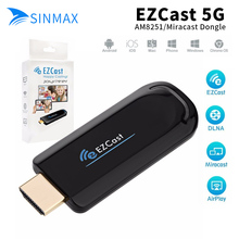 Stock EZCast 5Ghz WiFi HDMI Display Dongle Google Chrome cast DLNA Miracast AirPlay receiver ios windows android tv stick(China)