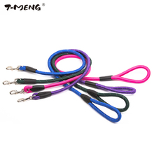 T-MENG 120CM Length Nylon Dog Leash Durable Collar Lead Reflective Walking Training Round Rope Leashes Goods For Pet Product