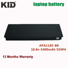 "KID Cheap price Replacement laptop battery for Apple A1185 MA561 MA566 MA566FE/A MA566G/A MA566J/A MB 13"" MA699TA/A MA699X/A(China)"