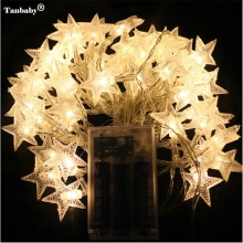 4M 40LEDs 3AA Battery Powered STAR Shaped Theme LED String Fairy Lights Christmas Holiday Wedding Decoration party Lighting(China)