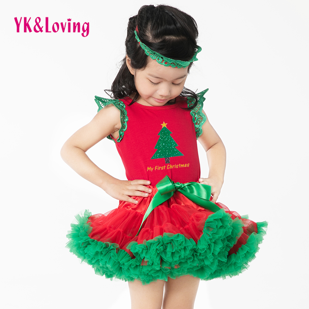 Retail Christmas Gift Hot Sale Baby Rompers 2016 Newborn Girls Clothes Christmas Tree Clombing Clothes+Tutu skirt Cartoon Suit<br><br>Aliexpress