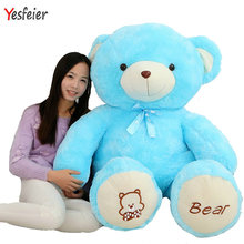 Cartoon cushion blue/pink/brown 60-120cm Cute colorized bear plush toys teddy bear doll stuffed plush animals pillow toy(China)