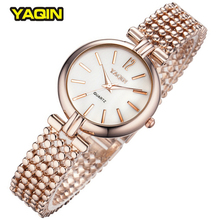 Brand YaQin Watch Luxury Bracelet Watches Original Women Quartz-Watch Rose Glod Casual Clock Ladies Summer Hot