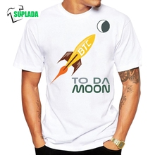 Buy Bitcoin Moon Cryptocurrency T-Shirts Stylish Short Sleeve Crew Neck T Shirts Adult Cotton Classic Normal Tees for $9.90 in AliExpress store