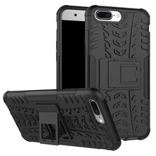 CASEISHERE Hybrid Armor Hard Case for one plus 5 Five Mobile Phone Dazzle Cover With Kickstand and Shockproof Function