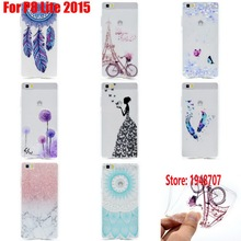 Beautiful Soft TPU Clear Transparent Silicone Fundas Coque Case Cover Cove For Huawei P8 Lite 2015 P8Lite Wind Butterfly Design