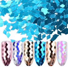 6pcs/set Holo Sparkling Diamond Nail Sequins 3d Ultra-thin Rhombus Paillette Sticker Tips Colorful Glitter Nail Art Decoration