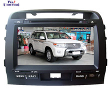Free Shipping 2016 Top Wince Car Multimedia System DVD Player Radio For Toyota Land Cruiser LC200 2004- With GPS Navi Free Map