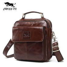 CROSS OX 2017 New Vintage Wax Leather Bags For Men Genuine Leather Messenger Bag Men's Bag Shoulder Bags iPad Holder SL396M