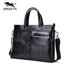 CROSS OX Genuine Leather Handbags For Men New Business Fashion Satchel Men's Briefcase Portfolio Messenger Bag Shoulder Bags