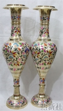 India imported bronze vase handicraft bronze 80 cm Gaoping white copper vase(China)