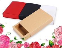 28*20*3.5cm Kraft Drawer Box Handmade Soap Gift Party Jewelry Packaging Paper Packing cardboard box